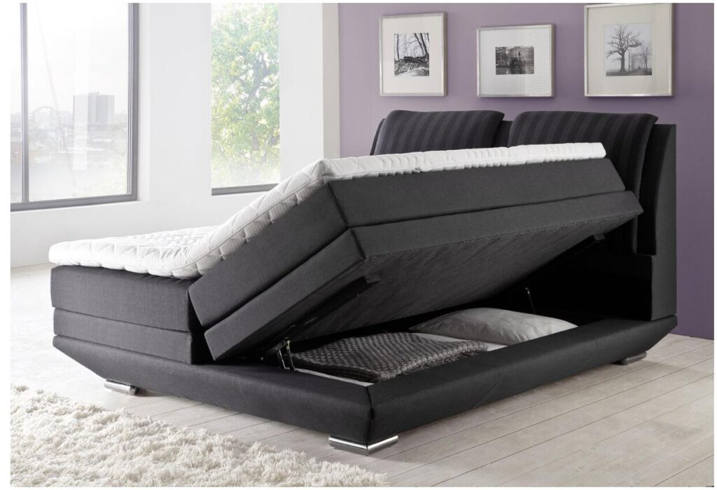 Box spring bed with bed box